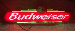 Vintage Budweiser Beer Neon Bar Sign Crafted Fallon 1998 Serial 0198 Usa Light