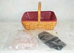 Longaberger Napkin Basket Combo With Three Liners And Protector