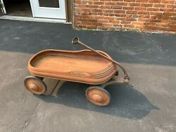 Vintage 1940and039s Mercury Childand039s Metal Pull Wagon