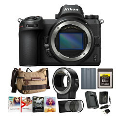 Nikon Z6 Mirrorless Camera Body With Ftz Mount Adapter And Accessory Bundle