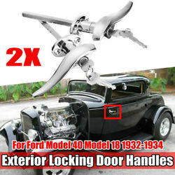 Outside Locking Door Handles For Ford 1932 3 Window 1933 1934 For Matching Locks