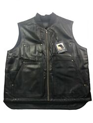 Sold Out Nwt Filson Wool-lined Leather Work Vest 2xl Xxl Made Usa