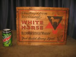 Vintage Wood White Horse Blended Scotch Whiskeyandrdquo Crate For Auld Lang Syne