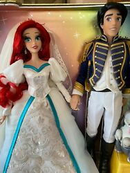 Disney Limited Edition Ariel And Eric Wedding Platinum Gift Doll Set Le710