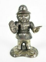 Vintage Inkwell Statue Rescue Of Traffic Manufacture Japanese Of Xx Century
