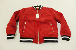 Weiv Menand039s Padded Bomber Jacket Cd4 Red Size Xl Nwt