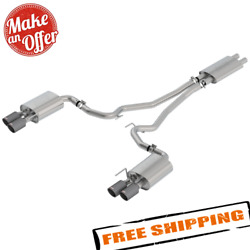 Borla 1014045cf Touring Cat-back Exhaust System For 18-20 Ford Mustang Gt 5.0l