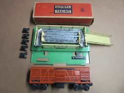 Lionel 3656 Operating Cattle Car Variation E Stockyard Ramp 5 Cattle Great Cond