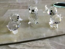 Crystal Figurines Quacking Small Duck Drake Baby Duck Owl