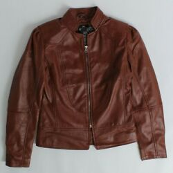Real Leather Women Leather Jacket XS NWT $14.99