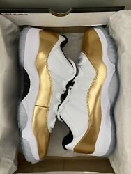 Nike Air Jordan 11 Retro Low Closing Ceremony 2016 Size 9.5 Gold Patent Leather
