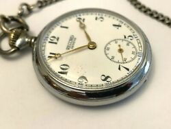 Relide Geneve Manual Wind Pocket Watch Fully Functional