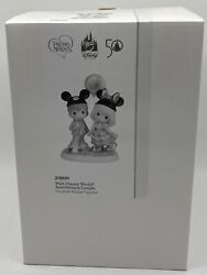 Disney Parks WDW 50th Precious Moment Porcelain Couple Figurine New with Box