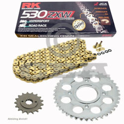 Chain Set Yamaha Yzf 750 Sp 93-98 Conversion Chain Rk Gb 530 Zxw 104 Gold Of