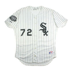 1991 Carlton Fisk Signed Game Used Jersey Chicago White Sox Comiskey Park Patch