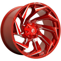 4-fuel D754 Reaction 24x12 8x6.5 -44mm Red/milled Wheels Rims 24 Inch