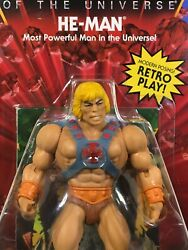 Mattel: Masters of the Universe He Man Vintage Head Variant UNPUNCHED CARD