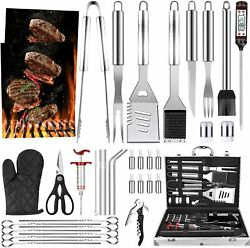 39pcs Bbq Grill Accessories Tools Set Grilling Barbecue Stainless Steel Case New