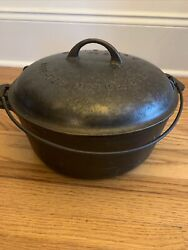 Vintage 1920s Griswold No. 9 Tite Top Cast Iron Dutch Oven 834 With 2552 Lid