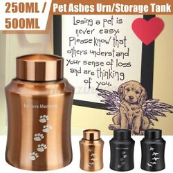 Cremation Urns Ashes Memorial Pet Cat Dog Steel Secure Threaded Lid Us New W