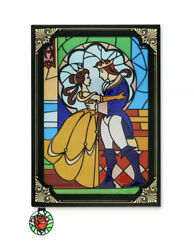New Disney Parks Beauty And The Beast Stained Glass Window Replica Journal Book