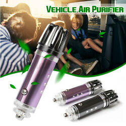 Car Fresh Air Ionic Purifier Oxygen Bar Ozone Ionizer Cleaner Removes Smoke