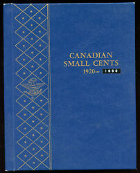 Canadian Small Cents Collection - Includes Rare 1922/23 And 1925 In Whitman Album