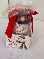 Yankee Candle Jack Frosty Scented Tea Lights 12 amp; Snowman Holder BRAND NEW