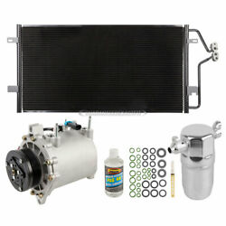 For Cadillac And Pontiac 4.6l V8 A/c Kit W/ Ac Compressor Condenser And Drier
