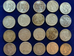 🌟20 Peace Silver Dollars 1925,1926,1927,1928-s,1934,1935 Better Date