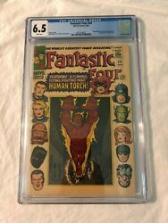 Fantastic Four 54 Cgc 6.5 1st First Evil Eye Black Panther Inhumans White Pages