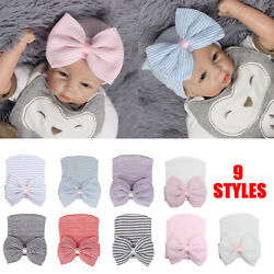 Soft for Baby Girls Nursery Beanie Newborn Hospital Hat Cap with Bow Baby Hats $9.59