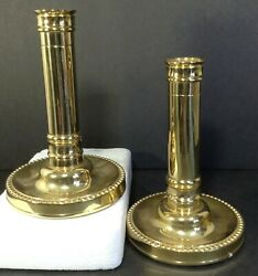 Baldwin America 6 Brass Candle Stick Holders Set Of 2 - Beaded Border -preowned