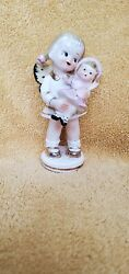 Vintage porcelain 5quot; Little girl with butterfly wings