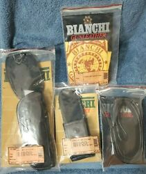 Vintage Bianchi General Officers Leather Holster Belt And Pouch Set G100 M9 1911