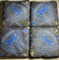 Ultra Cornhole Viper Bags Acl Pro Stamped 2021-2022 Light Blue/ Grey Brand New