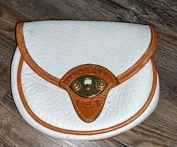 Dooney and Bourke mini Cavalry white leather belt bag NO strap $29.99