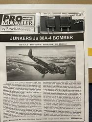 1 48 Revell Monogram JU 88 A 4 Front and Rear Canopies $5.00