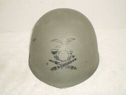 Ww2 Italian M33 Helmet Chinstrap And Insignia Of The Artillery
