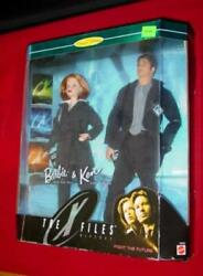 1998 X Files Giftset - Barbie And Ken / Mulder And Scully Collector Edit Dolls New