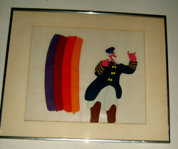 Two Beatles Yellow Submarine Animation Production Cels 1968 Peter Max Artwork