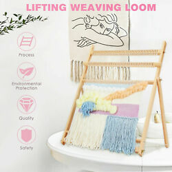 Weaving Loom Kit Large With Stand Wooden Looming Set Tapestry Loom Kit