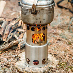 Outdoor Wood Stove Lightweight Folding Cooking Picnic Camping Backpacking Stove $13.95