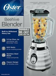 New Oster 600 Watt Classic Chrome Beehive 2-speed Blender 5-cup Glass Jar And Lid