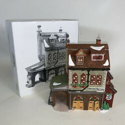 Dept 56 Heritage Dickens Village Series Hather Harness Stable Barn1994