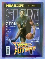 2020-21 Panini Nba Hoops Zion Williamson Slam Mag Cover Sp Ssp Holo Gold