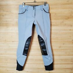 Ghodho Fiona Knee Patch Breeches Size 30 Grey Black Measures 28 X 26