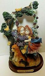 Premier Collection Figurine Boy And Girl On Tree Swing Vg Condition