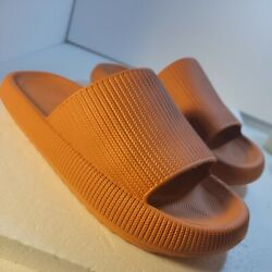 Soft Women Slippers House Bathing Quick Drying Sandals 42 45 orange rubber $18.50