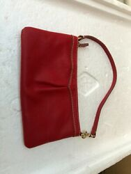 Dooney And Bourke Small Red Leather Purse 1975 $20.00